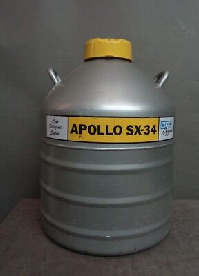 MVE Cryogenics APOLLO SX-34 6-Speciem Cryo Biological System Nitrogen TANK NR!