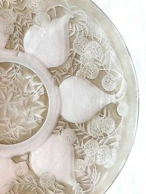 René Lalique No. 3018 VASES PLATE Crystal w/ Light StainVDA Mark c 1921