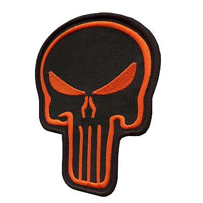"""XL big 4""""x5 5"""" Punisher skull morale military SWAT parche sew iron on patch"""