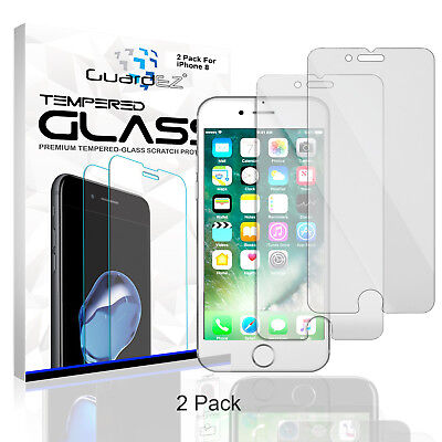 GuardEZ 2 Premium Tempered Glass Screen Protector for Apple iPhone 8