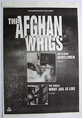 THE AFGHAN WHIGS 1994 Poster Ad GENTLEMEN