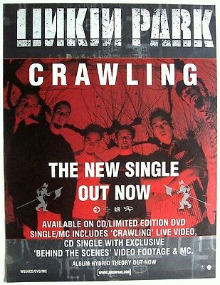 LINKIN PARK 2000 Poster Ad CRAWLING hybrid theory