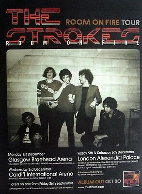 THE STROKES 2003 Advert ROOM ON FIRE TOUR