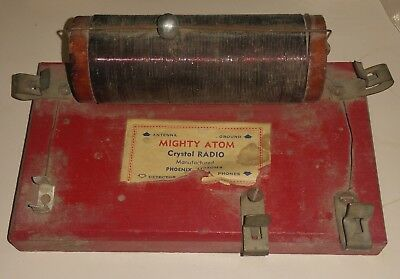 Mighty Atom Vintage Crystal Radio Red Arizona Phoenix Vernon Furr Mesa Az Offers