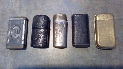 Vintage Match Safe Lot of 5, all and in working condition!