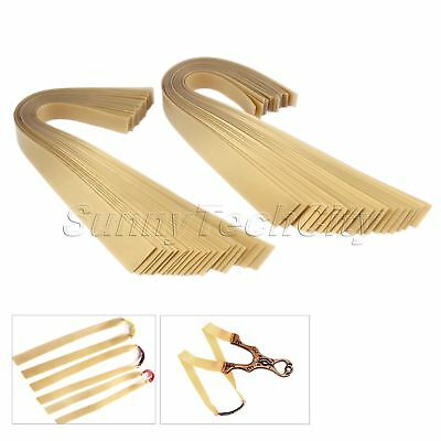 20pcs/Set Golden Flat Rubber Band Replacement For Slingshot Catapult Accessory