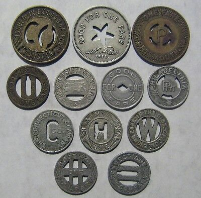 Lot of 12 Transit Tokens Take a Look