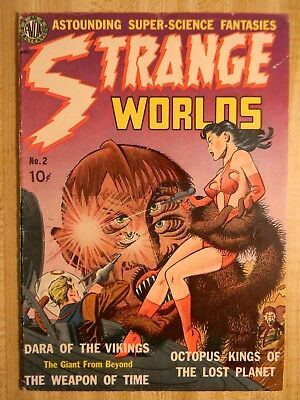 Strange Worlds #2 (4.5 Vg+) (Si-6) Scarce! 1951, Used In Soti! Wallace Wood Art!