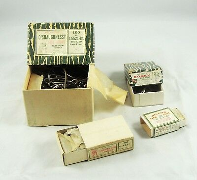 Old Vintage PFLUEGER FISH HOOKS + Boxes - O'Shaughnessy - Sobey + More
