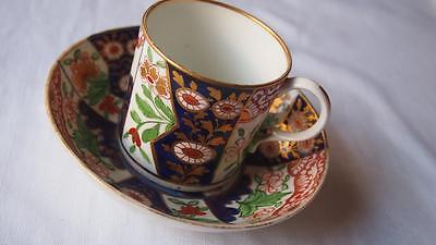 Antique DERBY Coffee Cup & Saucer Duo - Imari Pattern - Early 19th Century