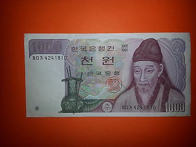 Paper Money, Korea, 1000 Won, The Bank of Korea, Yi Hwang, Rose of Sharon