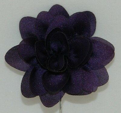 Silver Stemmed Lapel Pin - Purple