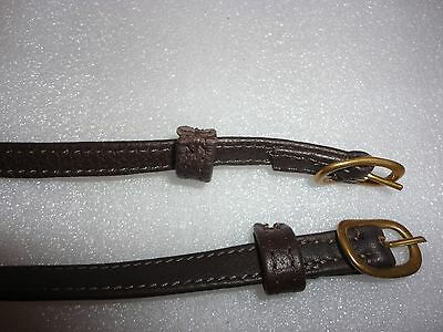 Stubben De Lux Brown Leather Spur Straps code 1118