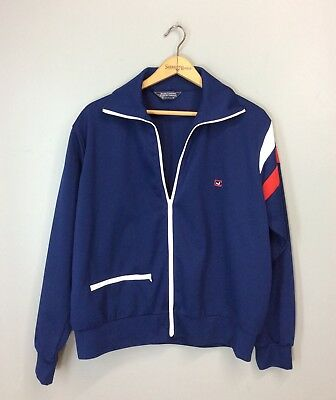 Vtg 70s 80s JC Logo JIMMY CONNORS ROBERT BRUCE Tennis USA Warm Up Track Jacket