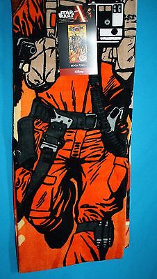 "STAR WARS HEROS The Force Awakens BEACH TOWEL New 28x58"" Cotton Disney 2016"