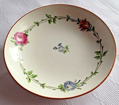 MEISSEN China Handpainted SAUCER Floral Flowers - Crossed Swords - 1st Quality