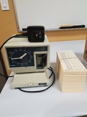 LATHEM Model 2121 Mechanical TIME RECORDER Employee PUNCH CLOCK  Works