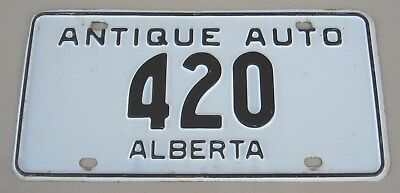 1963 Alberta Canada Antique Auto License Plate (#420)
