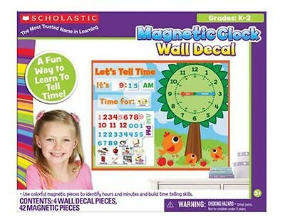 Scholastic MAGNETIC CLOCK INTERACTIVE Wall Decal Home School Teachers NEW