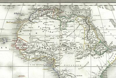 African continent fictitious Mts. Of Moon & Unexplored Regions 1842 rare old map
