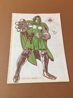 FOOM Issue #4 w/Jack Kirby Dr. Doom Marvel Comics Cover 1973 Rare Book