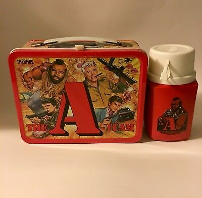 Vintage A-Team Lunchbox And Thermos 1983