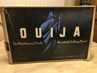Vintage 1950's William Fuld Ouija Board and Planchette Pre Parker Brothers