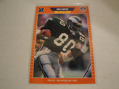1989 Pro Set Football Card 314 Cris Carter Rookie
