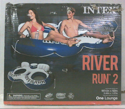 NEW Intex 58837EP River Run II Inflatable Water Float Sport Lounge