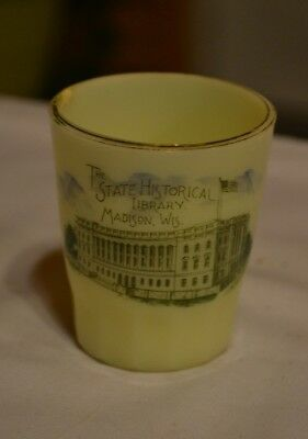 "Madison Wis. Custard Glass Toothpick 2 1/2"" Early 1900's"