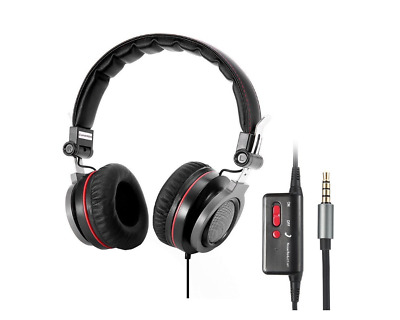 Active Noise Cancelling Headphones Stereo Headphones with Inline Mic