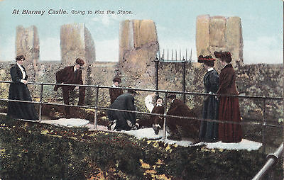 Going to Kiss the Stone Blarney Castle BLARNEY Co. CORK Ireland Postcard 74