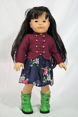 """Gotz doll 18"""" Asian doll black hair and two tone eyes brown and gray"""