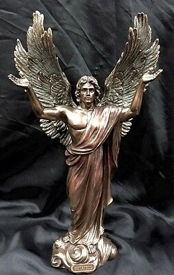 Arch Angel Metatron Bronze Coated Cold Cast Statue 37Cm Brand New