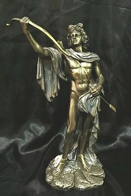 Bronze Cold Cast Coated Statue Of Greek God Apollo The God Of  Music 29cm High