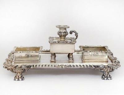 George III Sterling Silver Standish/Ink Well.