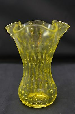 Pairpoint Controlled Bubble Vase - Canary Yellow