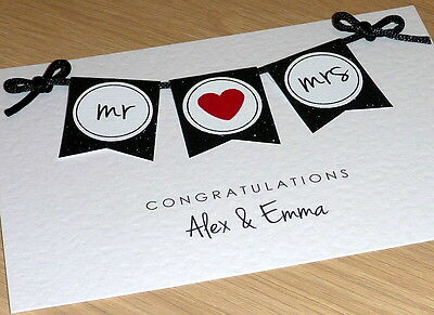 Personalised Wedding card - Mr & Mrs / Mr & Mr / Mrs & Mrs - handmade