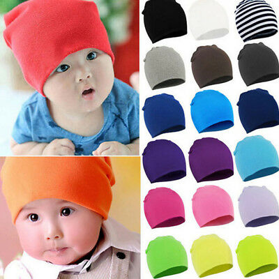 New Unisex Baby Boy Girl Beanie Toddler Infant Children Cotton Soft Cute Hats