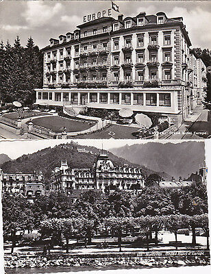 Swizerland 1955 Hotels used