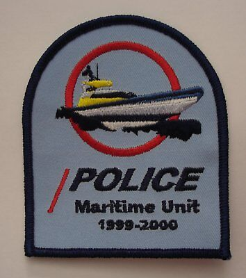 New Zealand Police Maritime Unit Patch