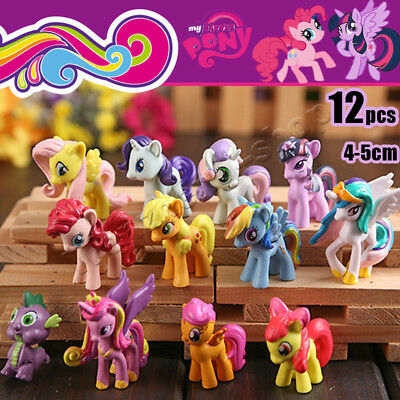 12Pcs/Set 5CM Lot of My Little Pony funny Cake Toppers Doll Action Figure Toy