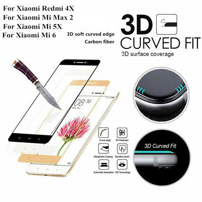 3D Curved Soft Edge 9H+ Full Cover Protective Tempered Glass For Xiaomi Series