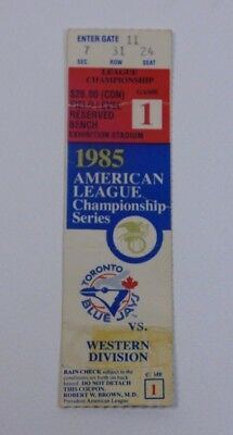 1985 American League Championship Series Game 1 Ticket Stub Baseball Collectible