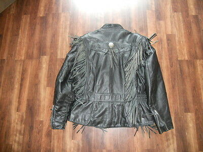 Women's L Harley Davidson Fringed Leather Made In The USA FREE SHIPPING
