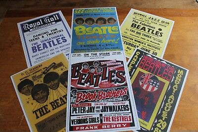 The Beatles - Set of 6 Concert Posters # 2