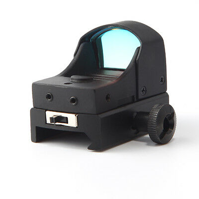 Top Black Holographic Reflex Micro 3 MOA Red Dot Sight Mount Rifle