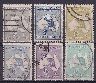 Australia 1915/27  part set of 6  type 6  watermark used