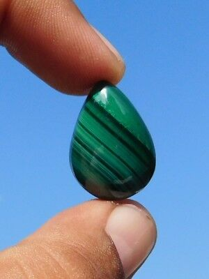 Massive 100% Natural 27.9 Crt.  Nicely  Green Malachite Loose Cab Gemstone