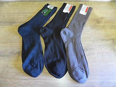 3 x Vintage St Michael Lambswool & Nylon Short Socks Unworn 9-11 Marks & Spencer